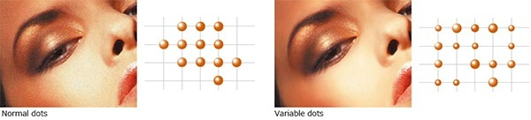 Variable dots