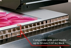 Compatible with print media up to 50 mm (1.97 in.) thick
