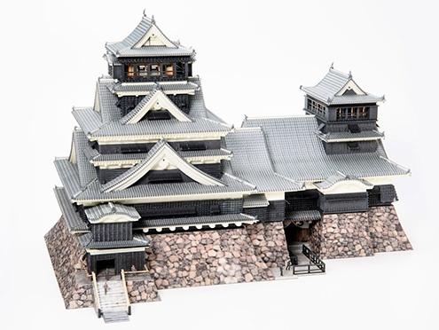 3DUJ-553: Building model (Kumamoto castle)