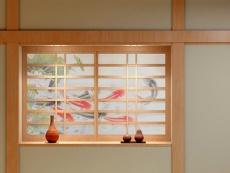 Shoji (sürgülü kağıt kapısı --- Japon kağıdı)