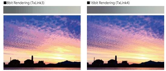 16bit Rendering (TxLink4)