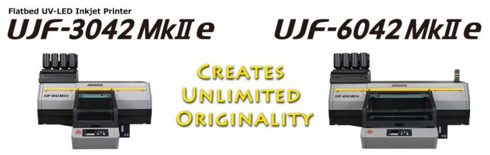 "Announcement of ""UJF-3042MkII e"", ""UJF-6042MkII e"" and ""UJF-3042MkII EX e"" Flatbed UV-LED Inkjet Printer - Creates Unlimited Originality"