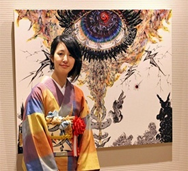 Mimaki creates a replica painting for Miwa Komatsu solo exhibition