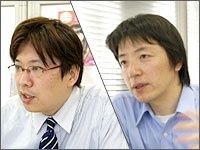 Left: Mr. Miyasaka (Executive director), Right: Mr.Shibata (Production)