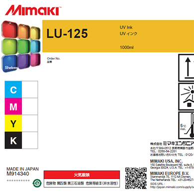 LU125-K-BA LU-125 UV curable ink 1L bottle Black