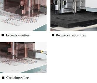 Eccentric cutter, Reciprocating cutter, Creasing roller
