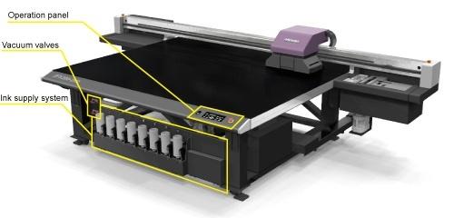 JFX200-2513 Operation panel, Vacuum valves, Ink supply system