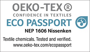 ECO PASSPORT Certification label (No. NEP 1606)