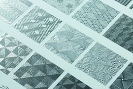 Texture expression with embossing effect