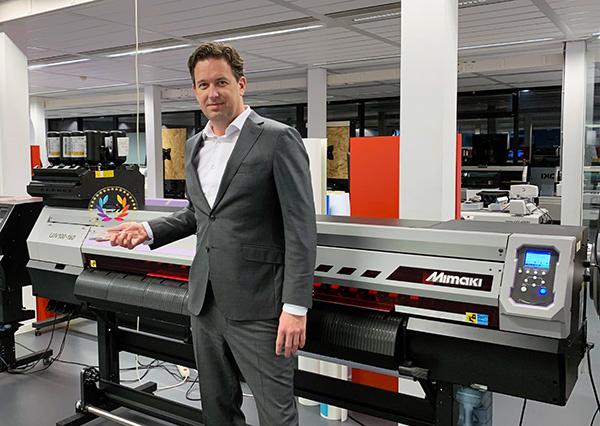 Ronald van den Broek, General Sales Manager at Mimaki Europe & UJV100-160