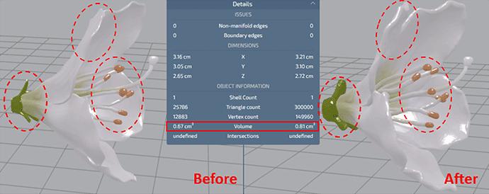 THICKNESS (thickness correction): Mimaki 3D Print prep Pro