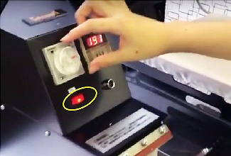 Heat press for mug
