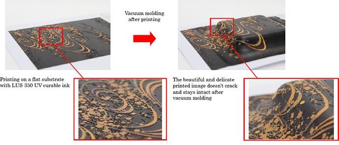 FIG.3: Vacuum molding sample