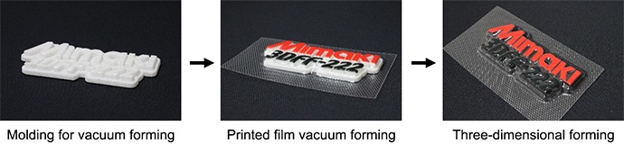 Molding for vacuum forming→Printed film vacuum forming→Three-dimensional forming