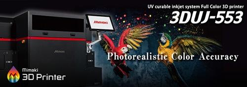 3DUJ-553: UV-curable inkjet system Full Color 3D printer