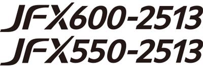 "Logo of ""JFX600-2513"" and ""JFX550-2513"""