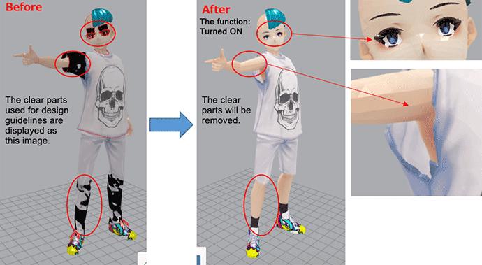 CUT TRANSPARENT PARTS (clear part cut correction): Mimaki 3D Print prep Pro