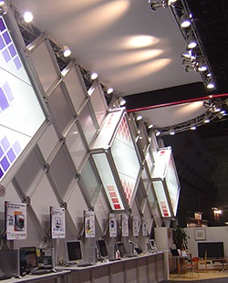 "Eventas's unique ""System Display"" offered by utilizing UCJV300-160"
