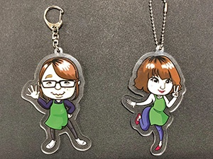 """Acrylic key holders manufactured by Narato Printing onto them are performed by Mimaki's UV printer """"UJF-6042MkII."""""""