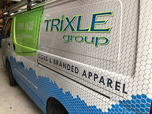 Trixle Group - Look out for this well branded van.