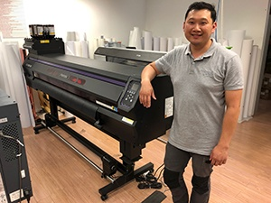 James Tran - In front of his Mimaki UCJV300-160