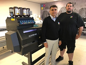John Privitera, owner of Display Systems Australia (Left) with Anthony Crosetta, production manager