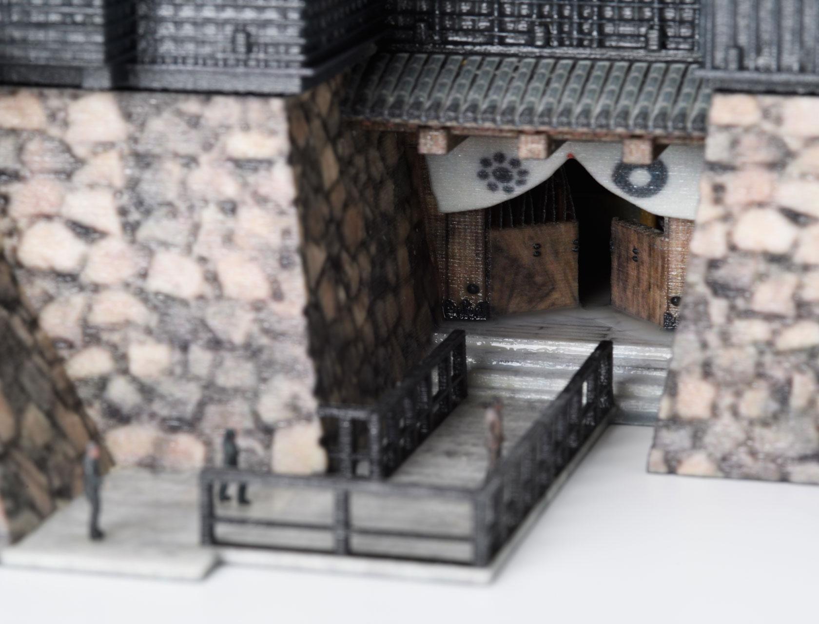 Building model (Kumamoto castle)
