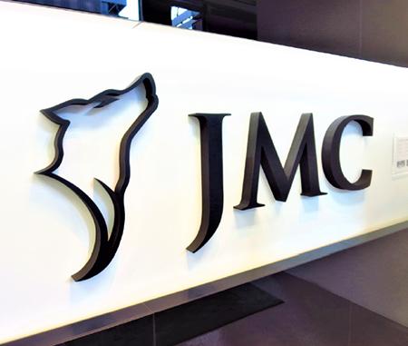 JMC's company logo is a