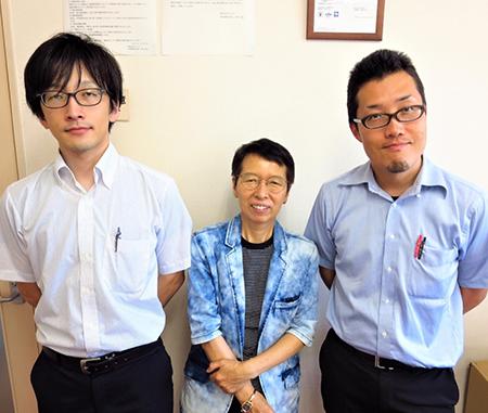 From left, Hiroyuki Fujie, Deputy Manager; Miki Nakazawa, Executive Vice-president; and Yuichiro Kodama, Manager