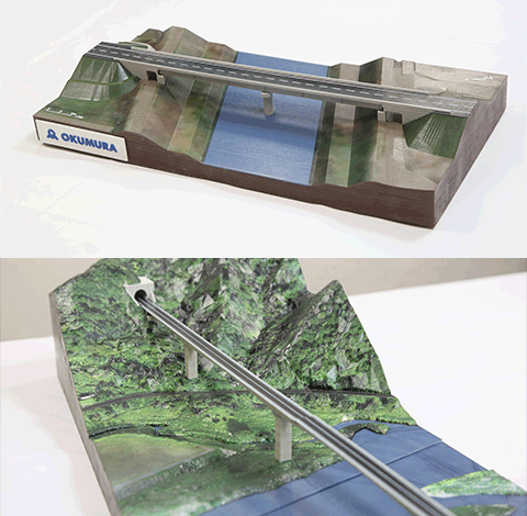 Printed model produced by Okumura Design