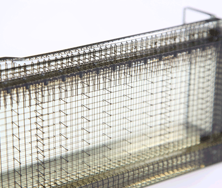 Clear ink is used to visualize reinforcement bars inside structures